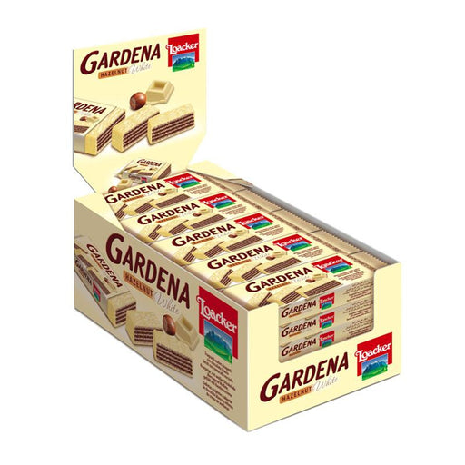 25 Loacker Gardena Hazelnut White Chocolate Wafers