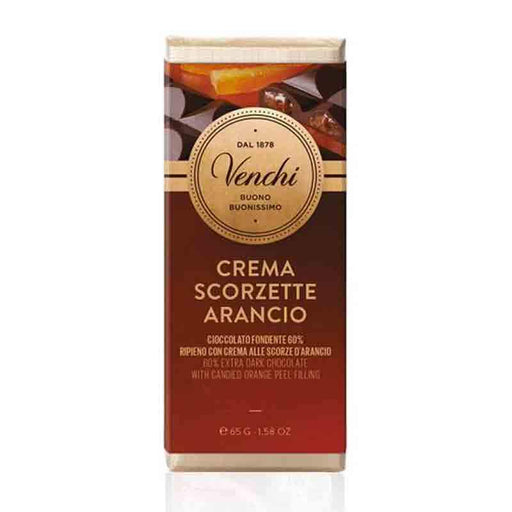 Venchi Mini Orange Filled Dark Chocolate Tablet, 2.29 oz (65 g)