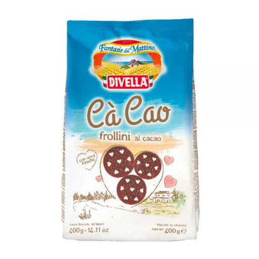 Divella Chocolate Cocoa Cookies , 14 oz. (400 g)