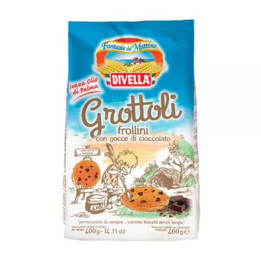 Divella Grottoli Chocolate Chip Cookies, 14 oz (400 g)