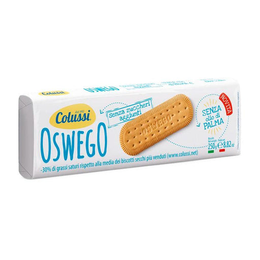 Colussi No Added Sugar Oswego Cookies, 8.8 oz (250 g)