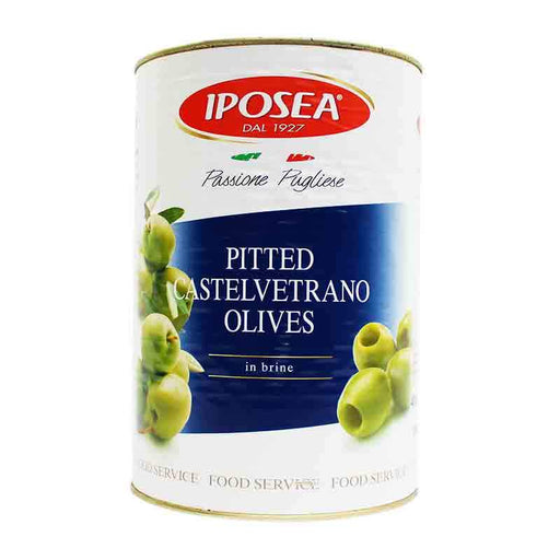Iposea Pitted Green Castelvetrano Olives, 141.1 oz. (4 kg)