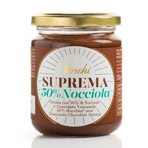 Venchi Suprema 50% Nocciole Gianduja Chocolate Hazelnut Spread