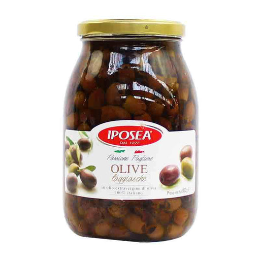 Taggiasca Olives in Olive Oil, 100% Italian, by Iposea 33.51 oz. (950g)