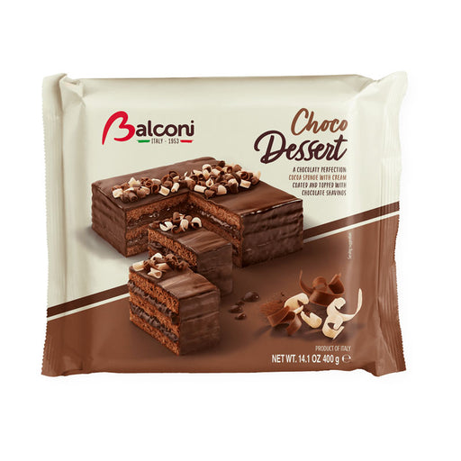 Balconi Triple Chocolate Layer Cake, Choco Dessert, 14.1 oz (400g)