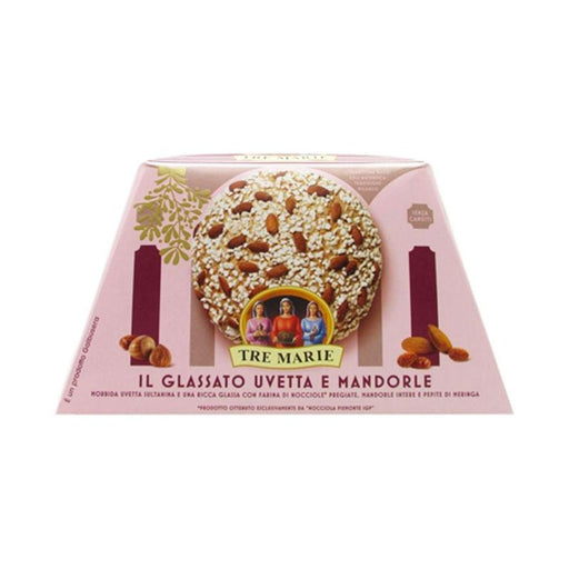 Tre Marie Glazed Panettone with Raisins and Almonds, 1.98 lb. (900g)