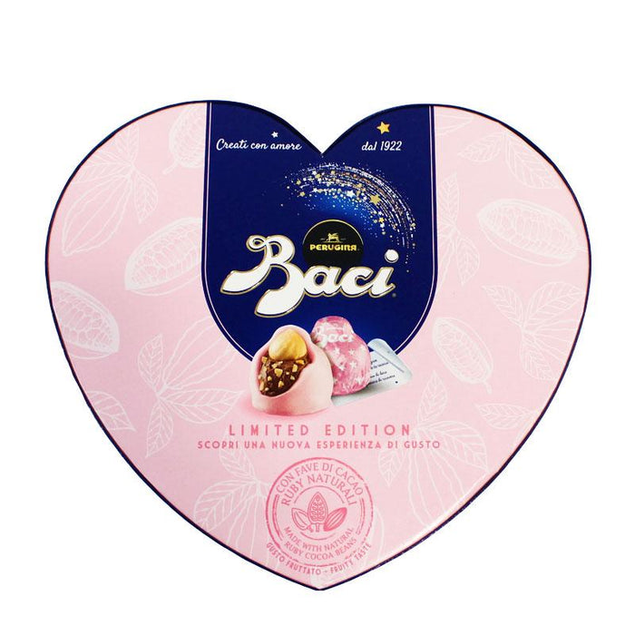 Baci Perugina Ruby Cocoa Chocolate Pralines in Heart Box, Limited Edition, 3.5 oz (100g)