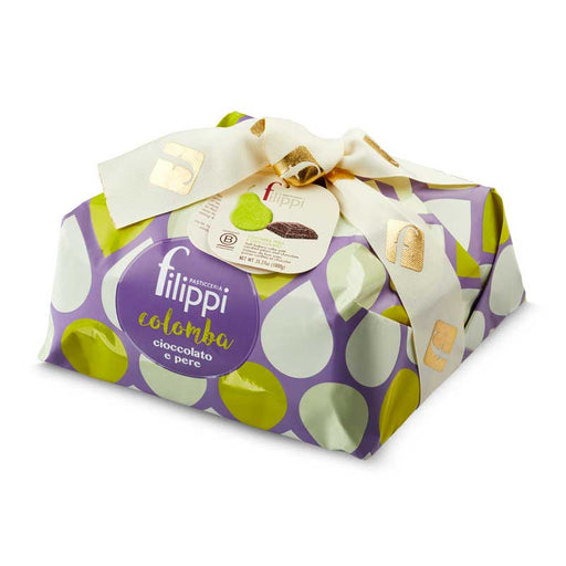 Filippi Colomba Cake Easter Dove with Pear and Chocolate, 35.27 oz (1000g)