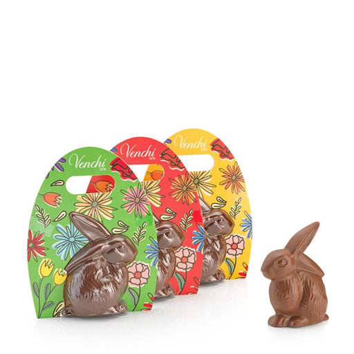 Venchi Chocolate Bunny, Solid Milk Chocolate, 3.5 oz (100g)