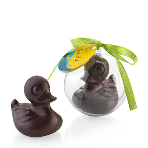 Venchi Chocolate Duck in Orb, Solid Dark Chocolate Easter Figure, 1.4 oz (40g)