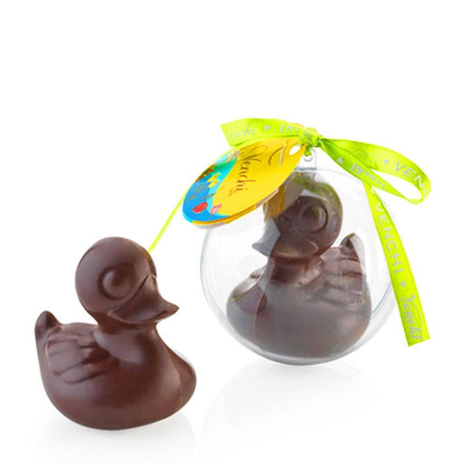 Venchi Chocolate Duck in Orb, Solid Milk Chocolate Easter Figure, 1.4 oz (40g)