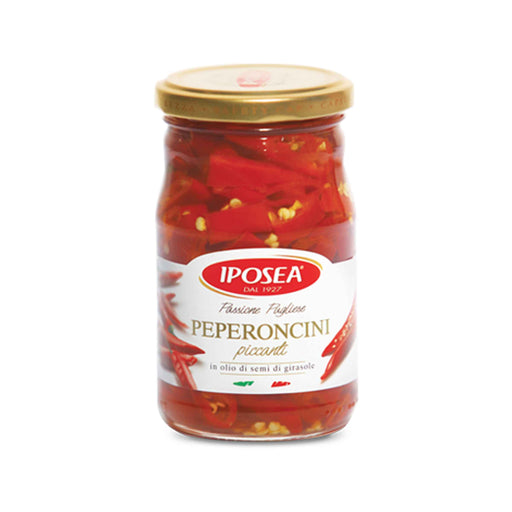 Hot Peppers in Oil from Italy by Iposea, 9.9 oz (280.0 g)