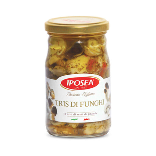 Mixed Mushrooms in Oil from Italy by Iposea, 10.2 oz (290.0 g)