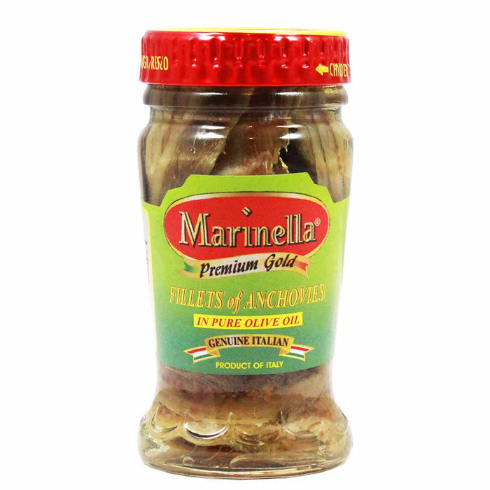 Italian Anchovy Fillets in Olive Oil by Marinella 3.2 oz.