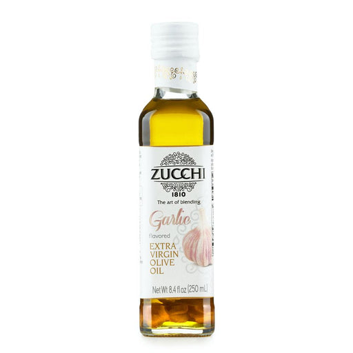 Garlic Flavored Extra Virgin Olive Oil by Zucchi, 8.4 fl oz (250 ml)