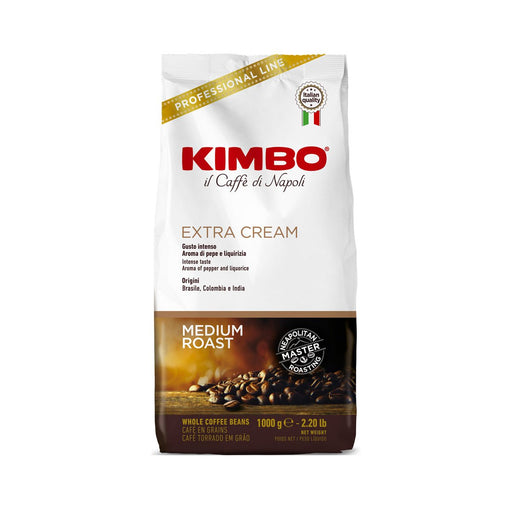Kimbo Espresso Bar Extra Cream Whole Coffee Beans, 2.2 lb (1 kg)