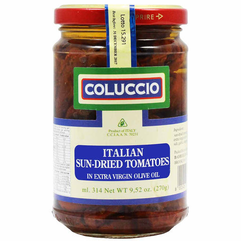 Italian Sun Dried Tomatoes in Extra Virgin Olive Oil by Coluccio 9.52 oz