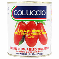 Italian Tomatoes in Tomato Puree with Basil D.O.P. by Coluccio 28 oz