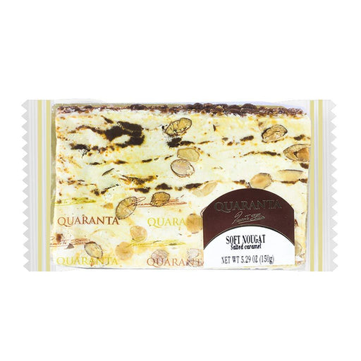Quaranta Sliced Soft Nougat Salted Caramel, 5.3 oz (150 g)