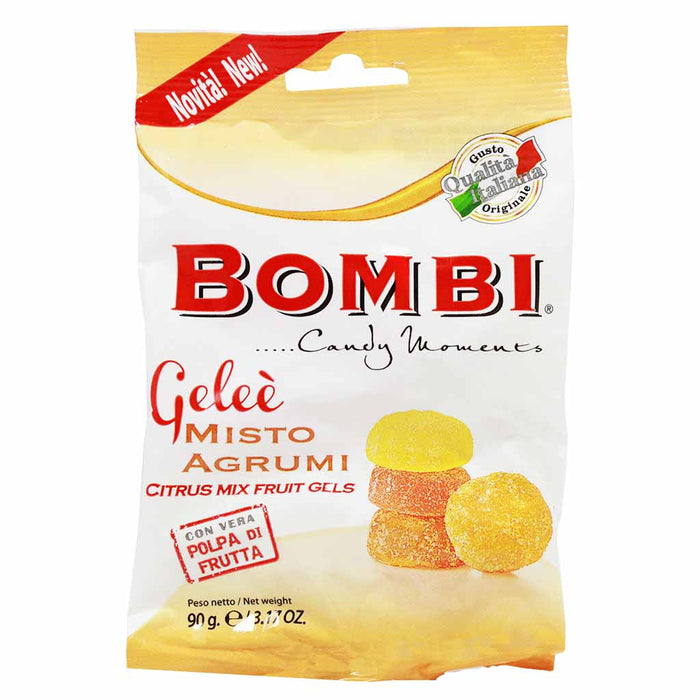 Italian Fruit Gelees Soft Artisanal Citrus Candy by Bombi 3.1 oz.