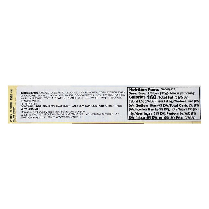 Quaranta Chocolate Hazelnut Nougat, 3.5 oz (120 g)