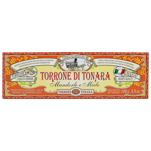 Italian Torrone Nougat with Almonds and Honey by Torrone Pili 3.5 oz