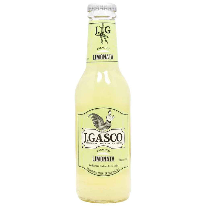Premium Fizzy Italian Soda Limonata by J. Gasco 6.7 oz