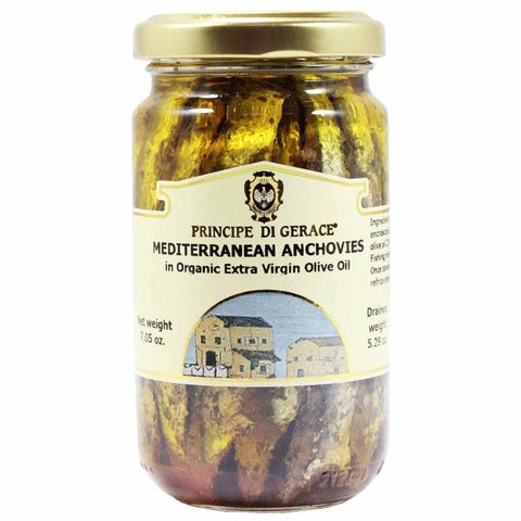 Mediterranean Anchovies in Organic Extra Virgin Olive Oil 7 oz