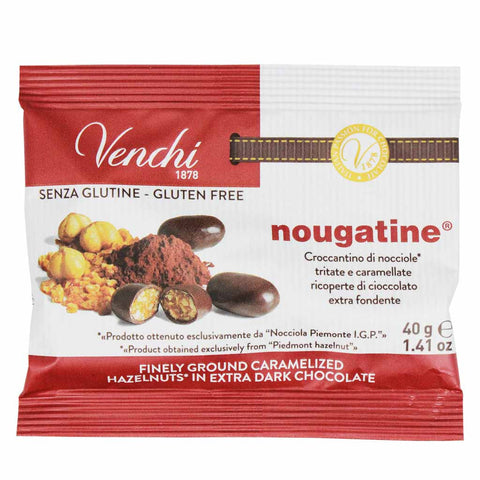 Gluten Free Nougatine Dark Chocolate with Hazelnuts by Venchi 1.4 oz
