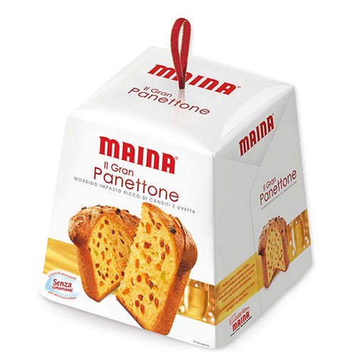 Maina Large Traditional Italian Panettone, 2.2 lbs (1,000 gram)