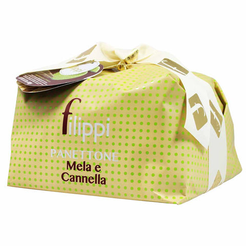 Large Italian Apple Cinnamon Panettone by Filippi 35 oz (1kg)