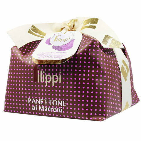 Large Italian Candied Chestnut Panettone by Filippi 35 oz (1kg)