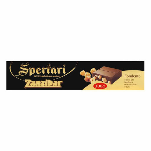 Sperlari Large Zanzibar Dark Chocolate with Hazelnuts, 10.4 oz (300g)