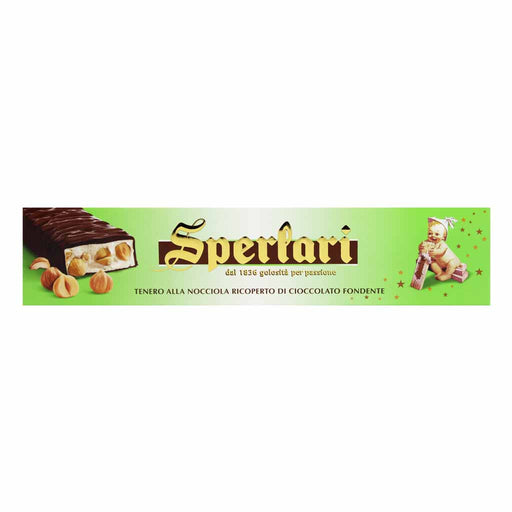 Sperlari Chocolate Torrone Nougat with Hazelnuts, 8.7 oz (250g)