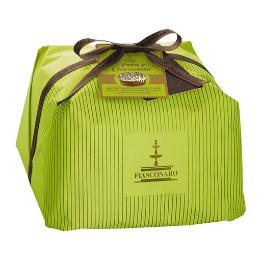 Italian Pear Panettone with Chocolate Drops by Fiasconaro 35 oz