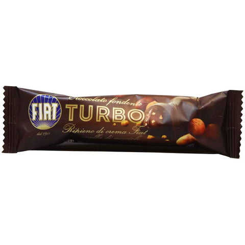 Majani FIAT Turbo Dark Chocolate Bar with Gianduia & Hazelnut Chips 1.2 oz