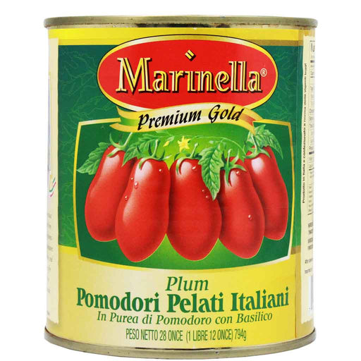 Italian Whole Peeled Plum Tomatoes by Marinella 28 oz