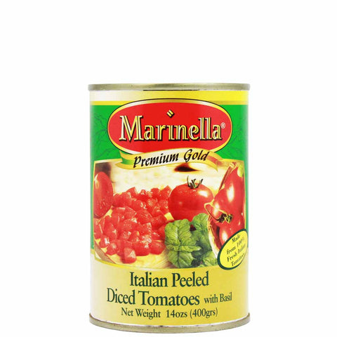 Italian Peeled Diced Tomatoes by Marinella 14 oz