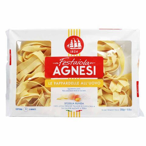 Italian Egg Pappardelle Pasta by Agnesi 8.8 oz
