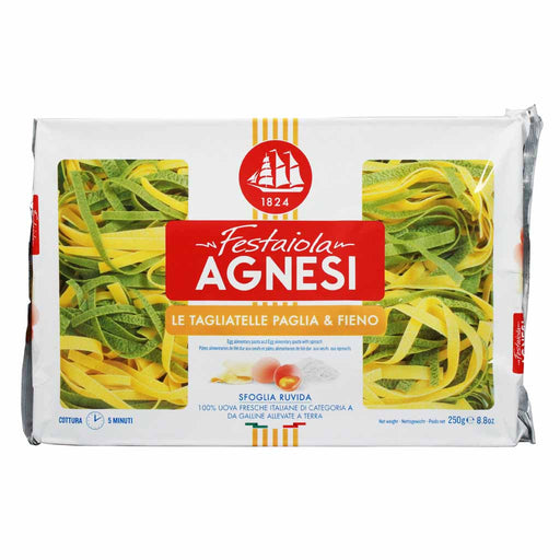 Agnesi Tagliatelle Italian Spinach and Egg Pasta 8.8 oz