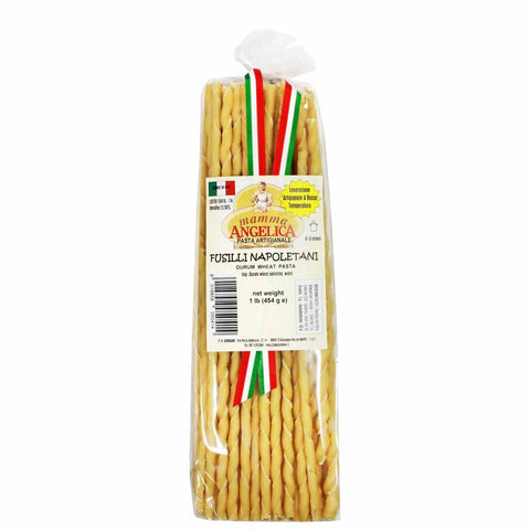 Durum Wheat Fusilli Napoletani Pasta by Mamma Angelica 1 lb