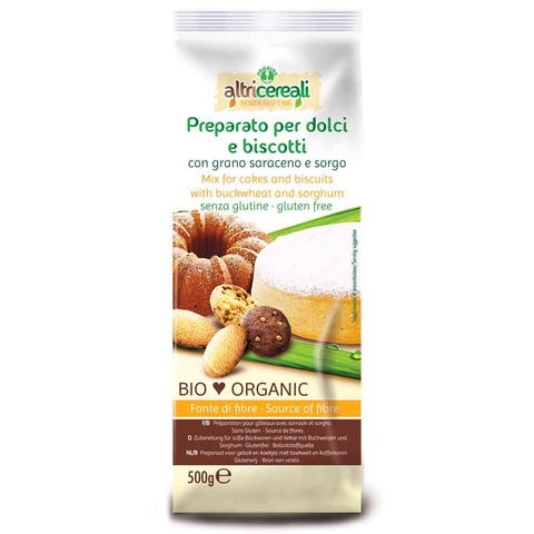 Gluten Free Organic Mix for Cakes and Biscuits by Probios 17.6 oz