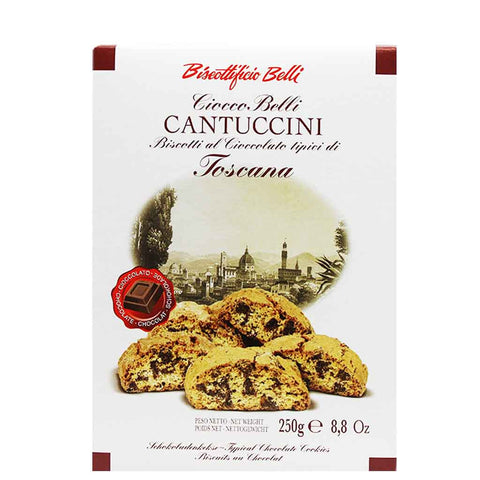 Biscottificio Belli Chocolate Biscotti Cantuccini in Gift Box 8.8 oz (250g)