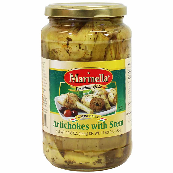 Italian Artichokes with Stem by Marinella 19.8 oz. (560g)