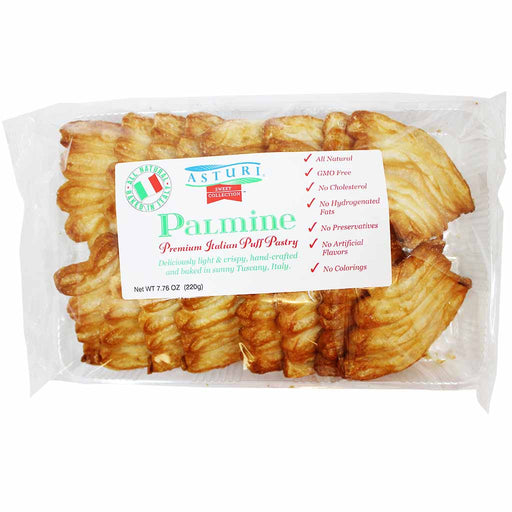 Asturi Palmiers Puff Pastry From Italy, Palmine 7.7 oz. (220g)