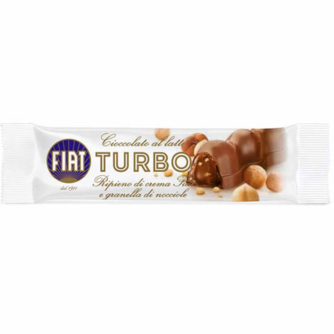 FIAT Turbo Milk Chocolate Bar with Gianduia & Hazelnut Chips 1.2 oz. (35g)