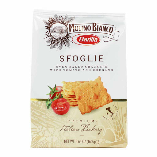 Mulino Bianco Sfoglie Crackers with Tomato and Oregano 5.6 oz. (160g)