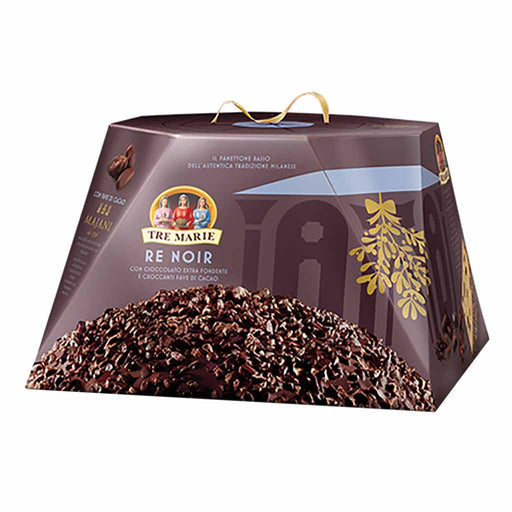Tre Marie Italian Re Noir Dark Chocolate Panettone 1.9 lbs. (900g)