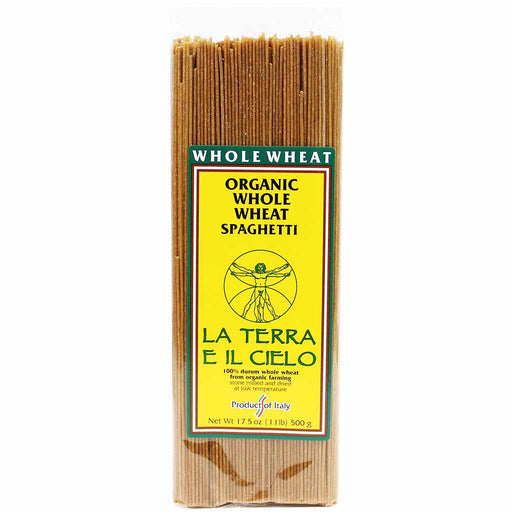 La Terra e Il Cielo Organic Whole Wheat Spaghetti 17.5 oz. (500g)