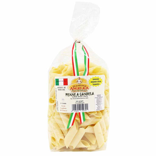 Durum Wheat Candle Penne Pasta by Mamma Angelica 1 lb. (454g)